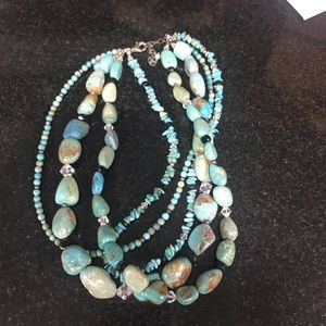 Silpada multi stone necklace